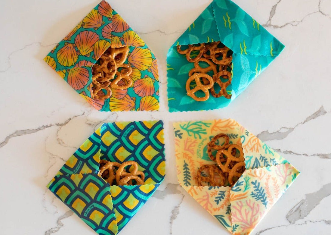 Meli Wraps Reusable Beeswax Wrap in Tails Print