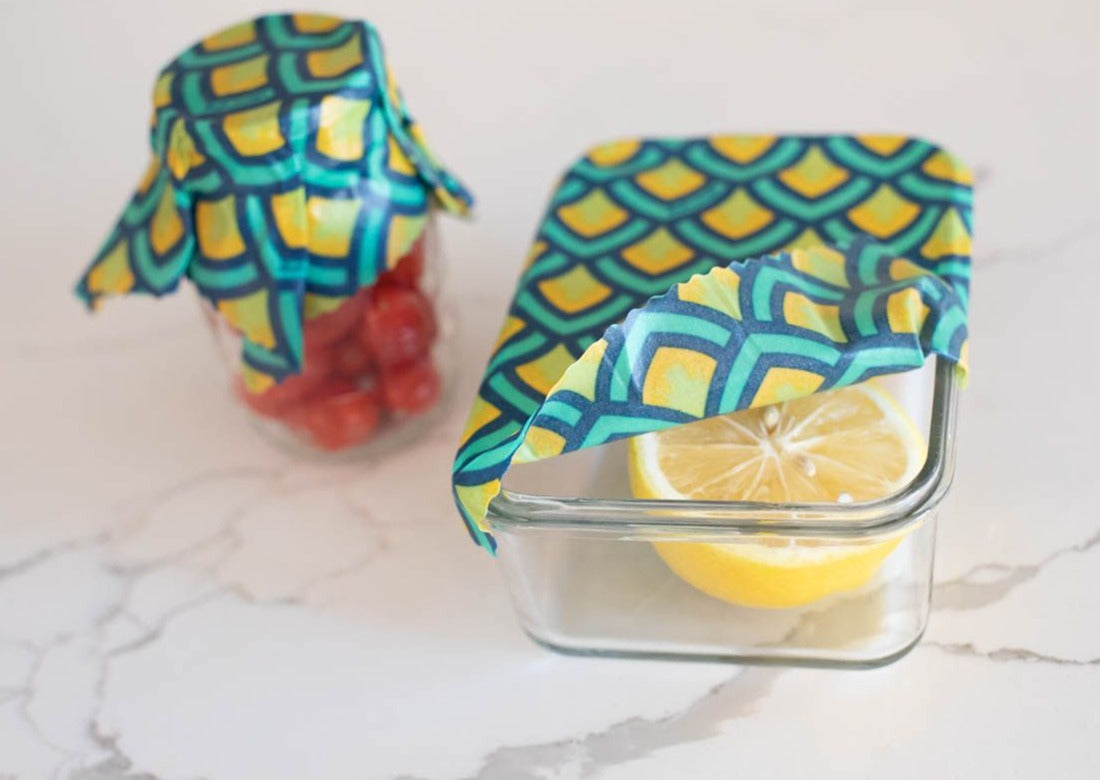 Meli Wraps Reusable Beeswax Wrap in Scales Print