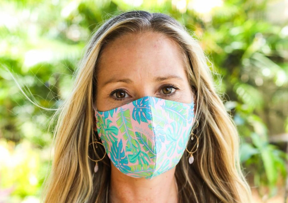 Meli Wraps® 100% GOTS Organic Cotton Face Mask - Kahanu Print