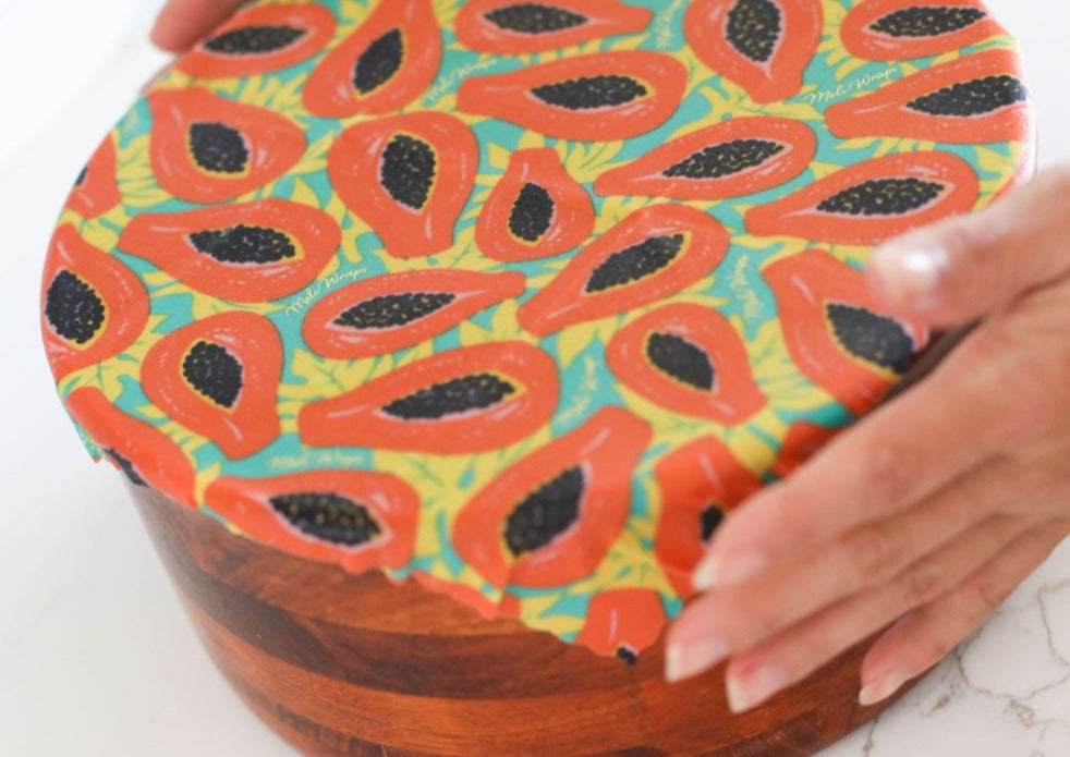 Meli Wraps Beeswax Wrap Bulk Roll - Tropical Papaya Print