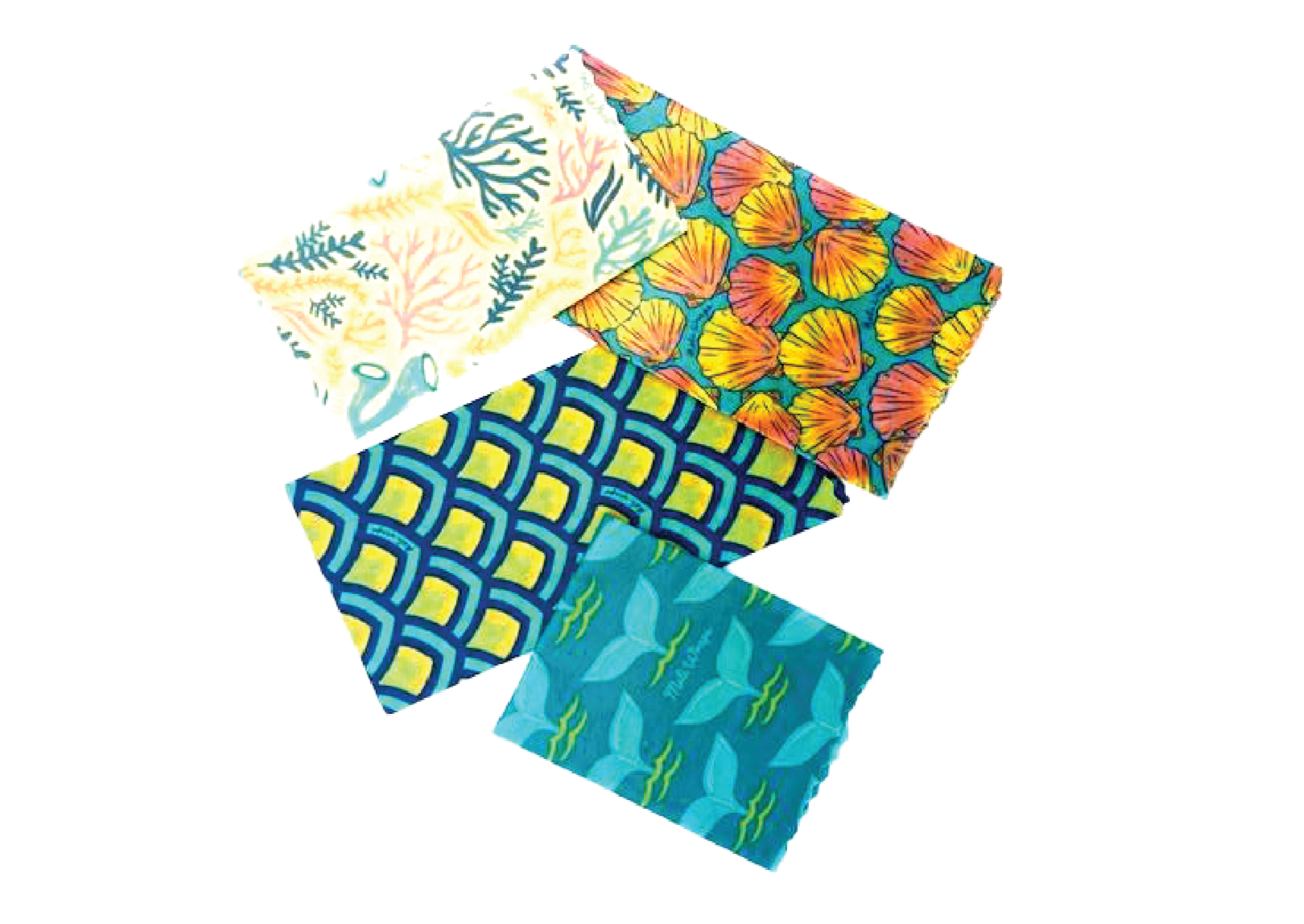 Meli Wraps Reusable Beeswax Wrap - Ocean Variety Pack