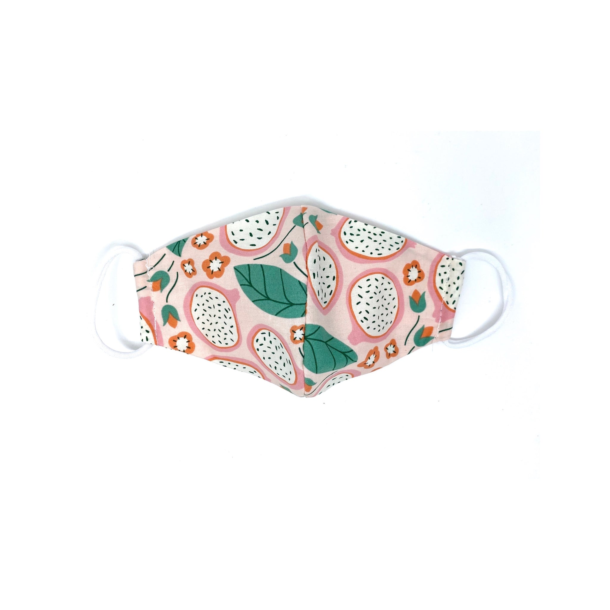 100% GOTS Organic Cotton Face Mask in Dragonfruit print