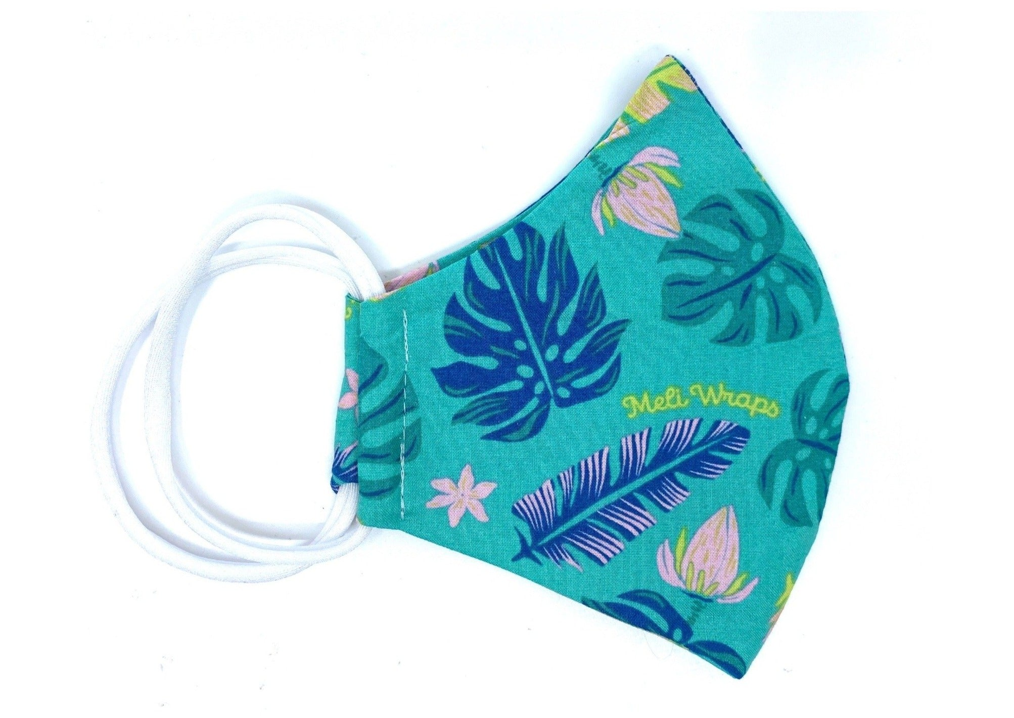 100% GOTS Organic Cotton Face Mask in Lau print