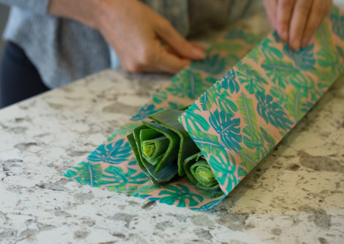 Meli Wraps Reusable Beeswax Wrap - Kahanu Print