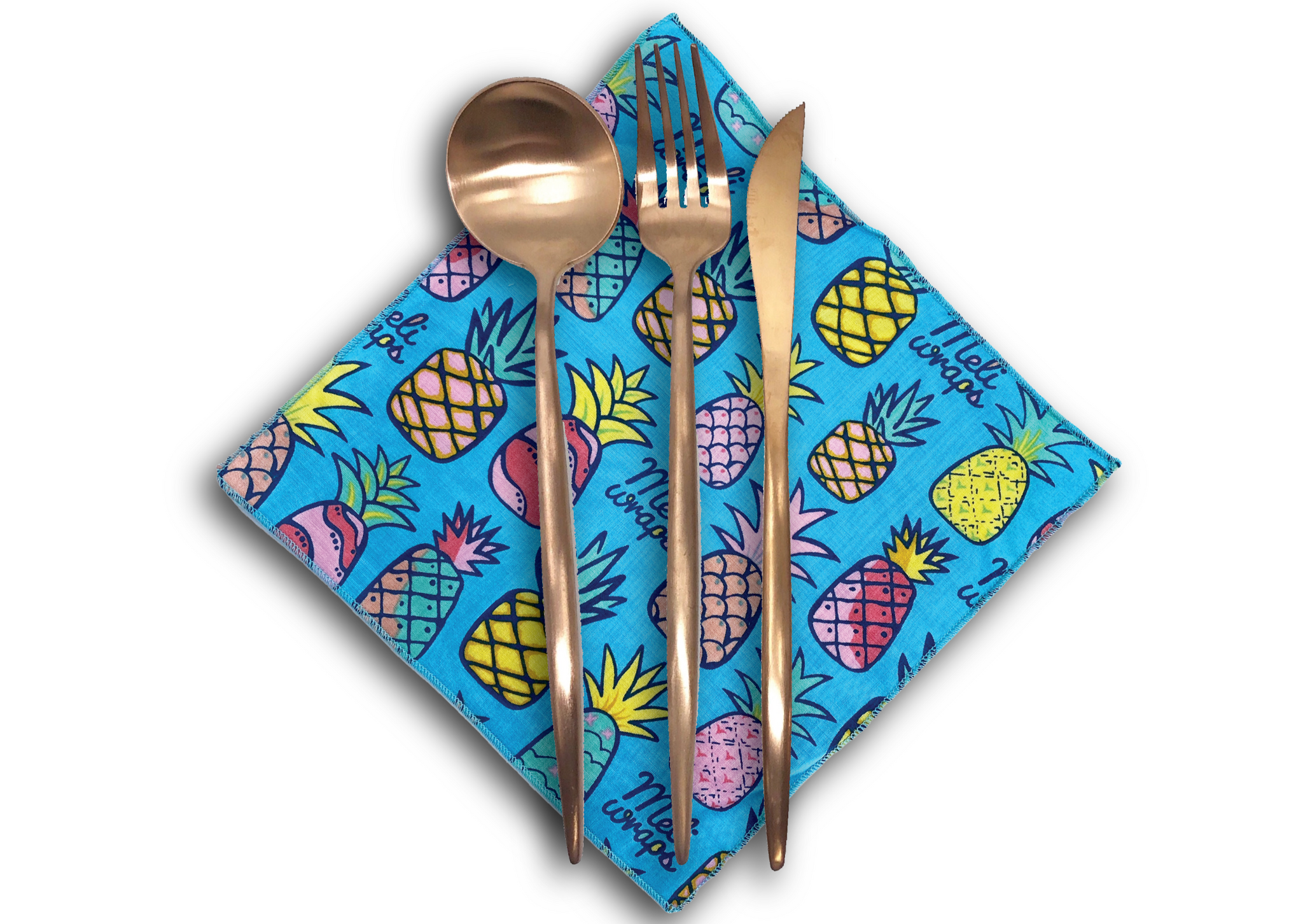 Meli Wraps Organic Cotton Reusable  Napkin - Pineapple Print