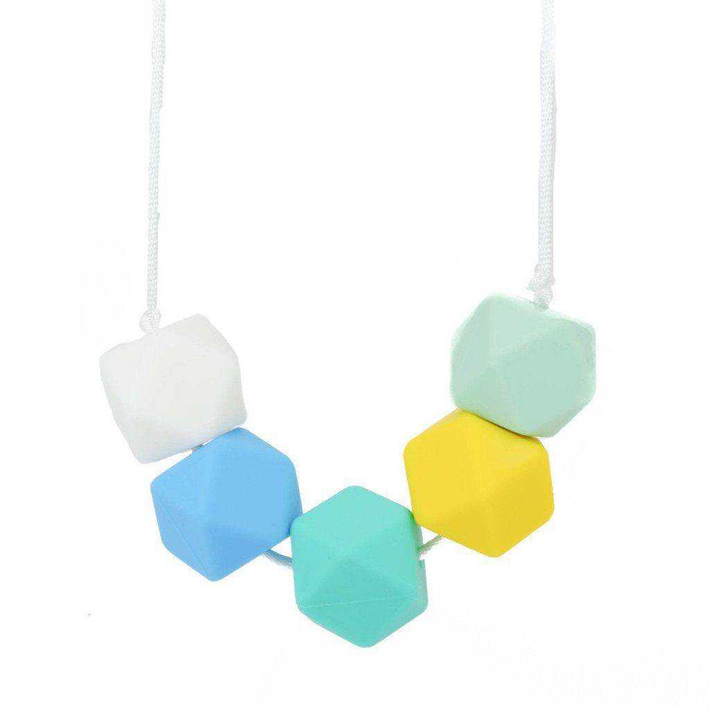 Silicone Teething Necklace - Blake - Glitter & Spice Canada