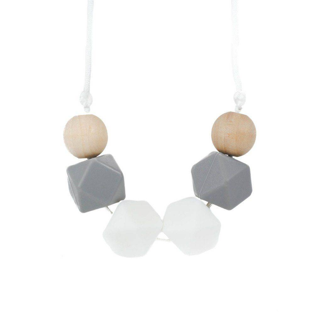 Silicone Teething Necklace - Celest - Glitter & Spice Canada