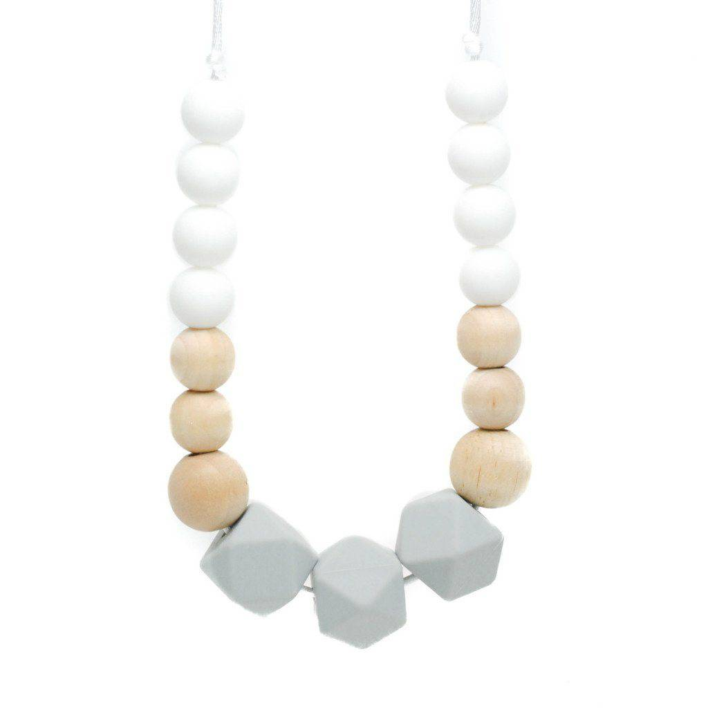 Silicone Teething Necklace - Finley - Glitter & Spice Canada