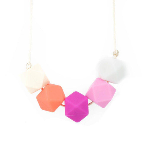 Silicone Teething Necklace - Freya - Glitter & Spice Canada