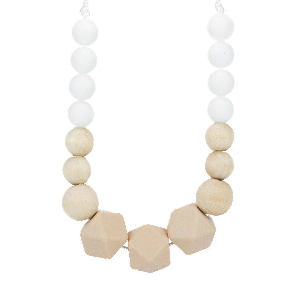 Silicone Teething Necklace - Hazel - Glitter & Spice Canada