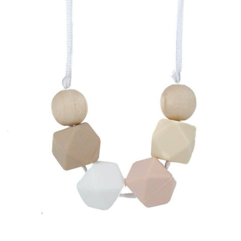 Silicone Teething Necklace - Penelope - Glitter & Spice Canada