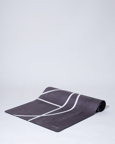 LUXE YOGA MAT - GREY PLUM