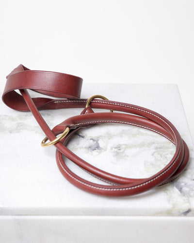 LEATHER YOGA STRAP - POMEGRANATE