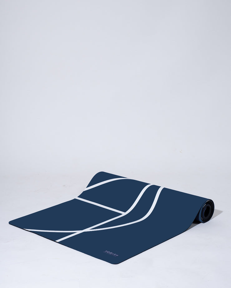 LUXE YOGA MAT - DENIM BLUE
