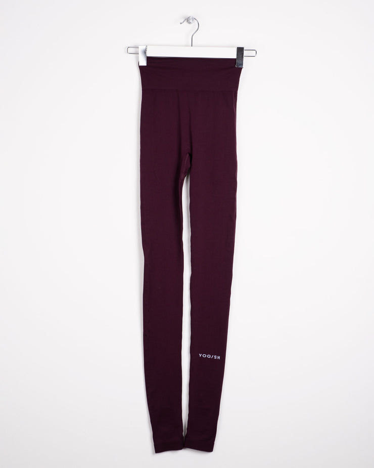 SIRI SEAMLESS LEGGINGS - AUBERGINE