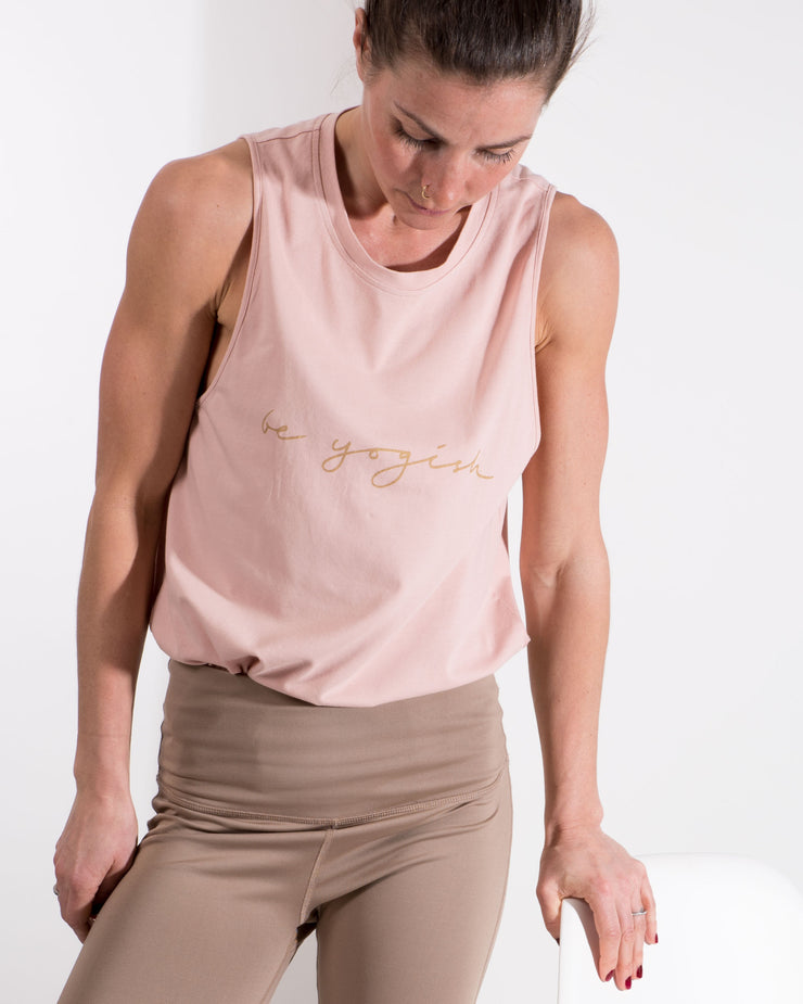 INEZ TANK TOP - DUSTY PINK