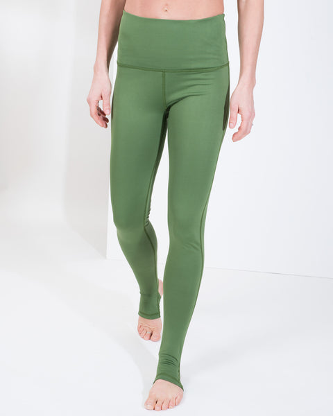 LIV HIGH WAIST LEGGINGS - KALE
