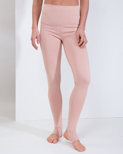 LIV HIGH WAIST LEGGINGS - DUSTY PINK