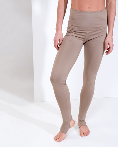 LIV HIGH WAIST LEGGINGS - LATTE