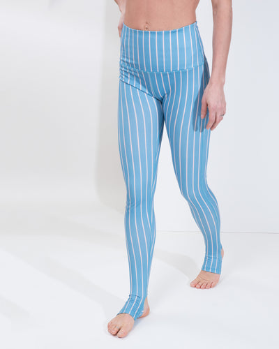 LIV HIGH WAIST LEGGINGS - PETROL STRIPE