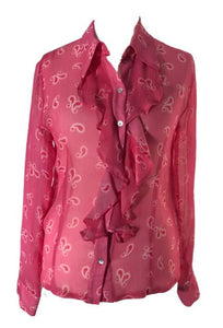 LAST ONE:  Ossie Clark Silk Shirt - You Boutique