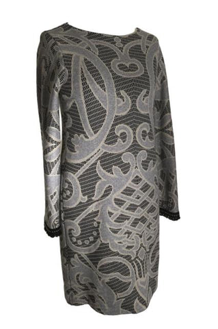 LAST ONE:  Ana Alcazar Short Dress in Grey Print - You Boutique