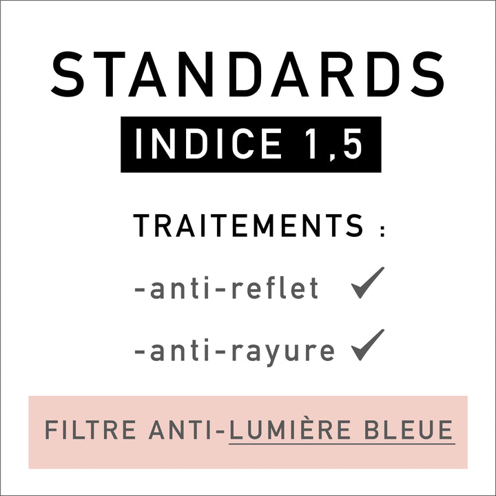 STANDARD Lenses incl. Blue Light Filter