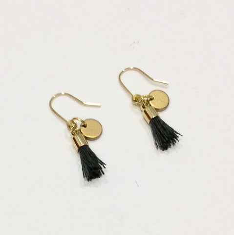 Gold Tiny Tassel Earrings