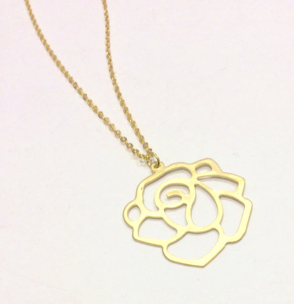 Golden rose necklace