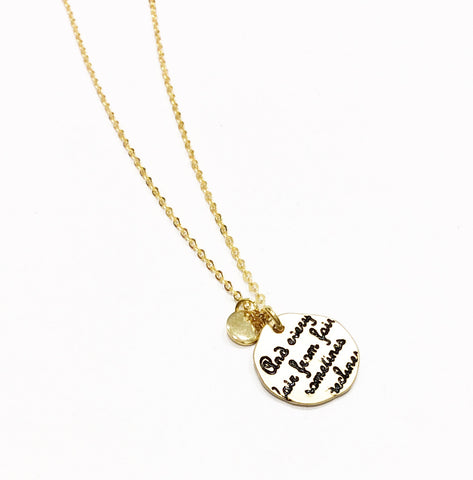 Long Gold Sonnet Necklace