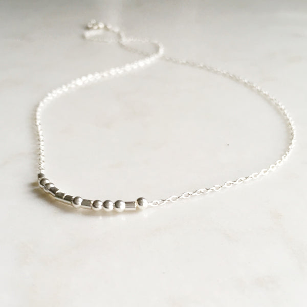 Namaste, Morse Code Necklace