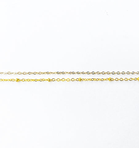 Gold double satellite choker