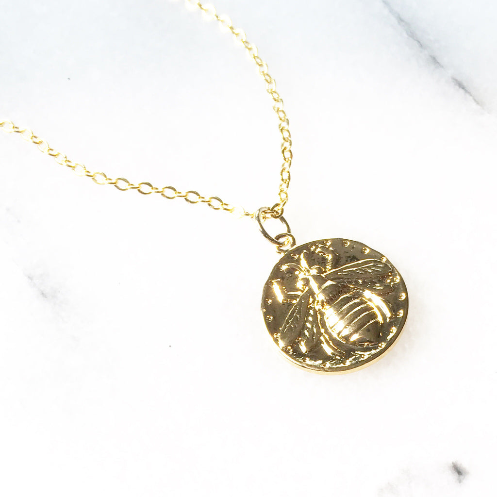 Bee Coin pendant