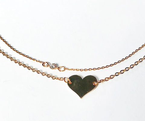 Rose Gold Heart Bracelet