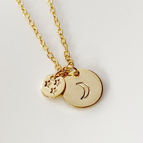 Stars and Moon Necklace