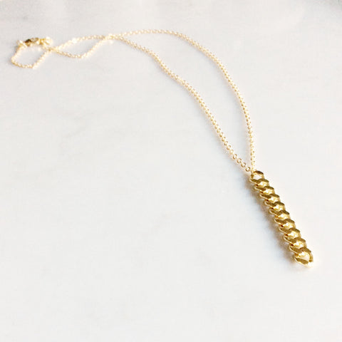 Lexi Necklace - long curb chain drop necklace