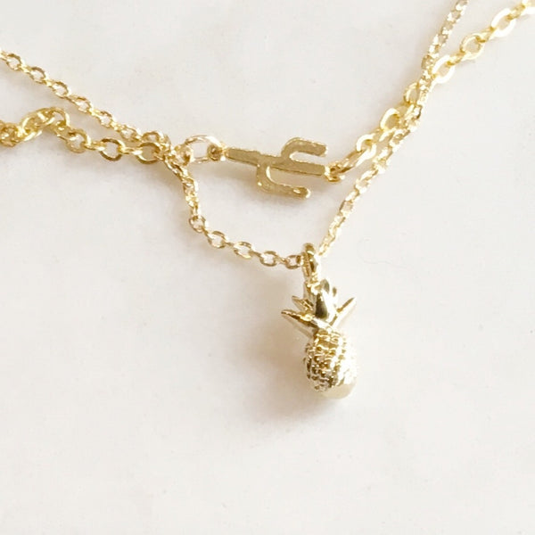 Mini 3D Delicate Pineapple Necklace