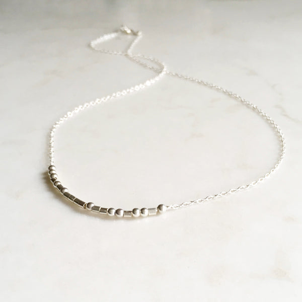 Strong AF, Morse Code Necklace