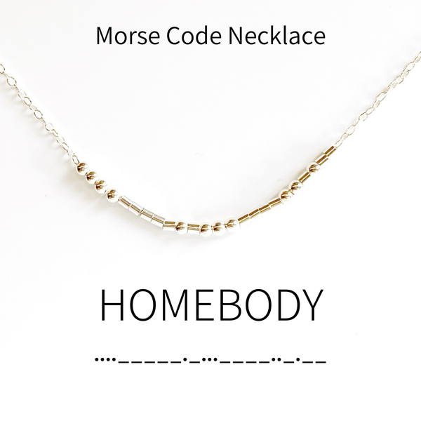 Homebody Morse Code Necklace