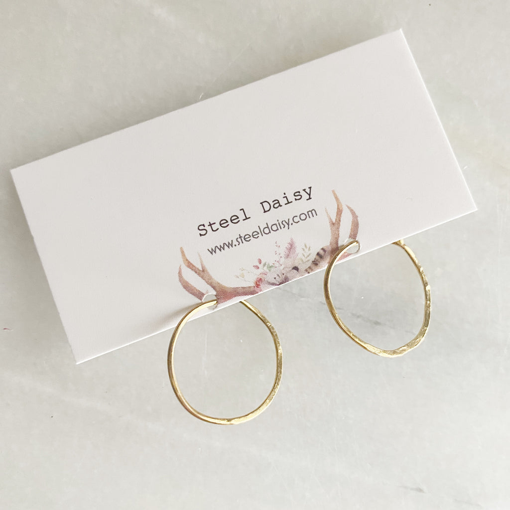 Simple Sparkle Hoops