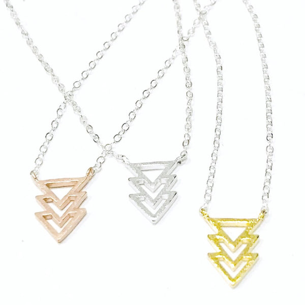 Triple Chevron Necklace