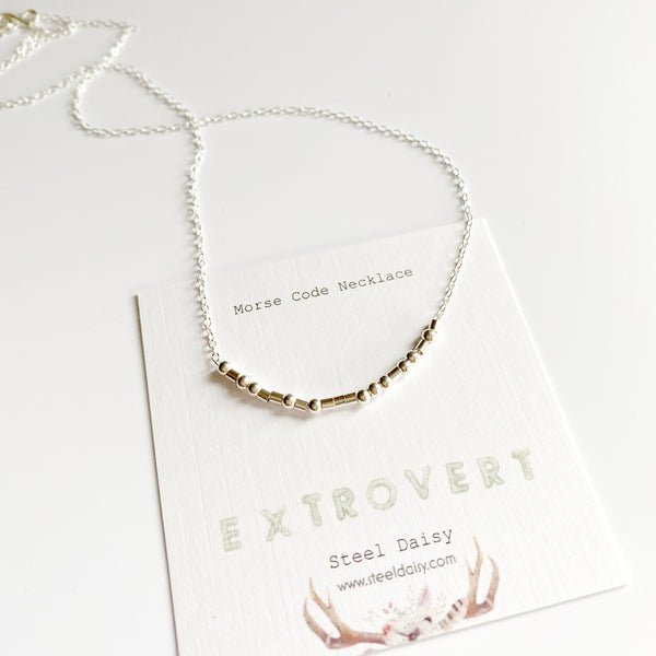 Extrovert Morse Code Necklace