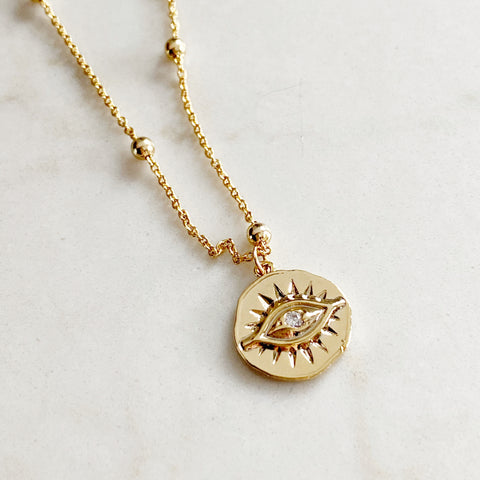 Evil Eye Coin pendant