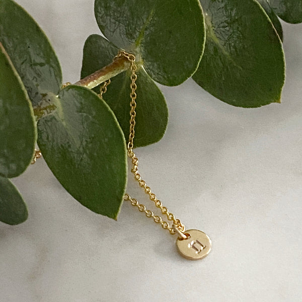 Tiny Gold Initial Necklace