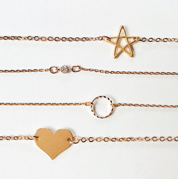 Rose Gold Star Bracelet