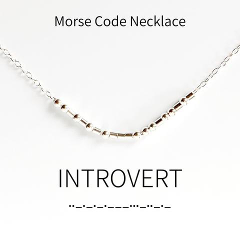 Introvert Morse Code Necklace