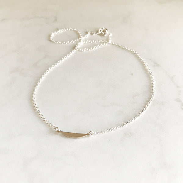 Delicate Half Disc Necklace