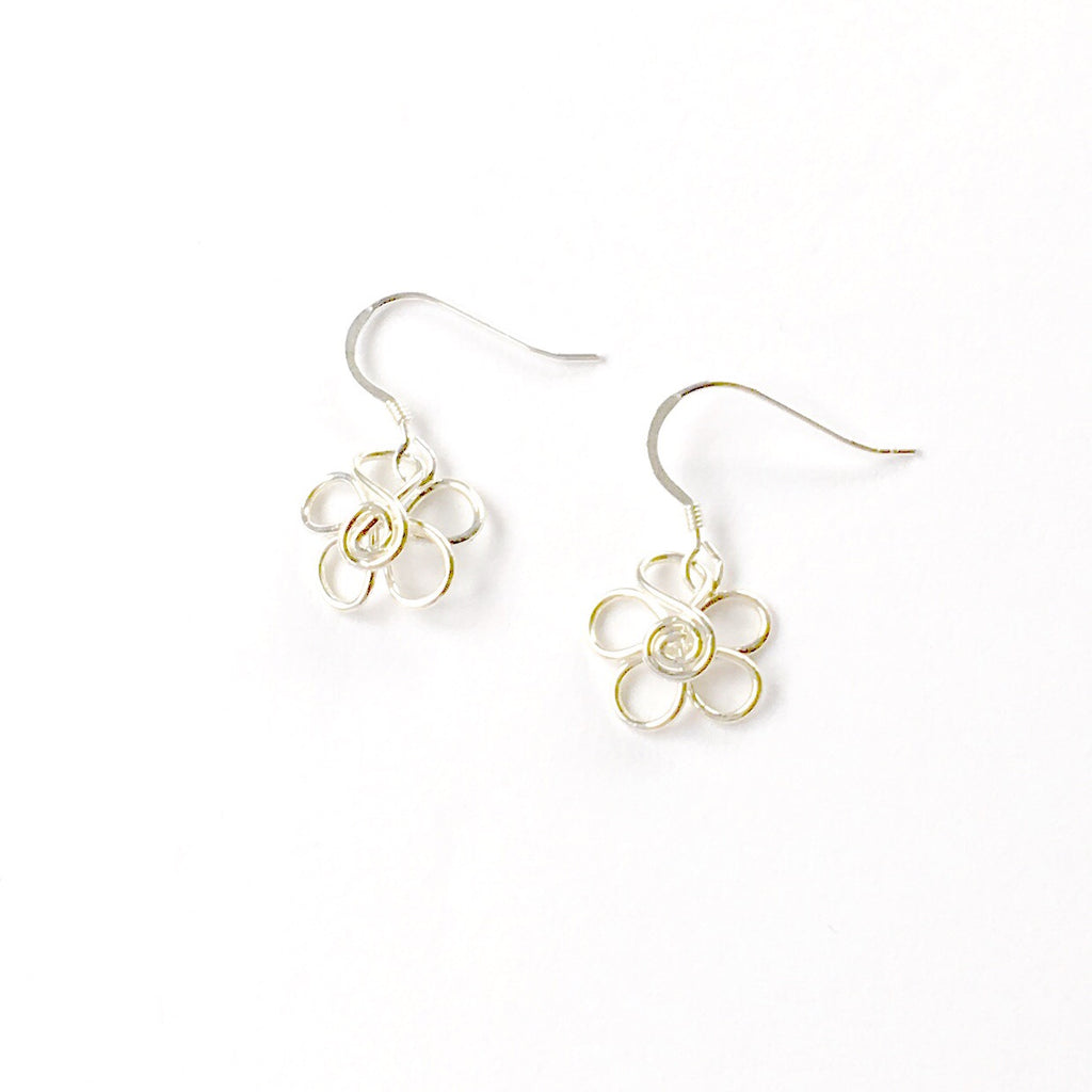 Sterling Daisy Earrings