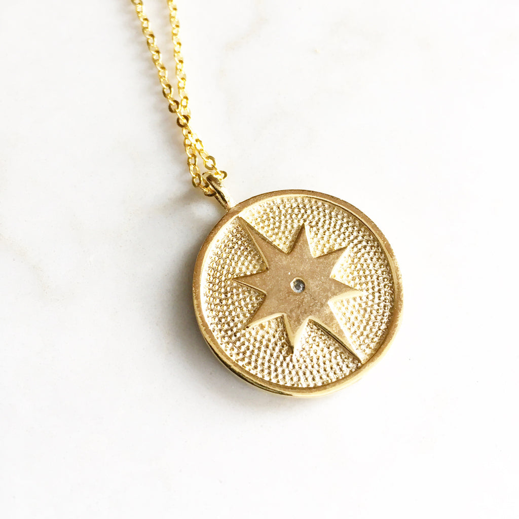 Gold North Star Pendant