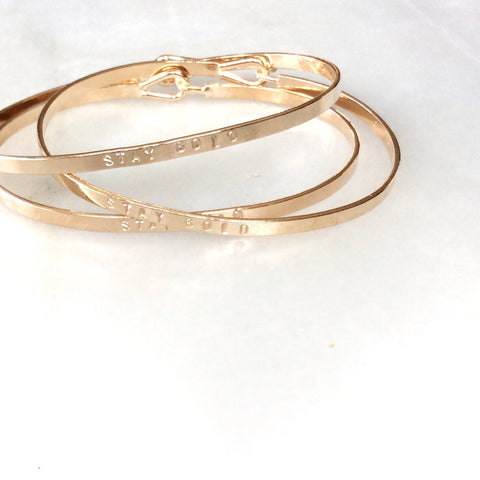 Stay Gold Bangle